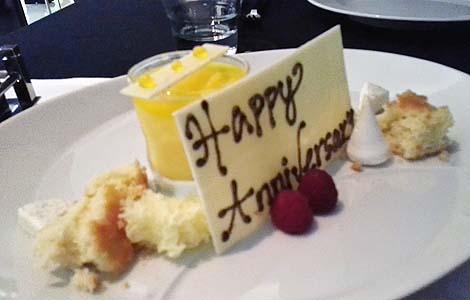 Anniversary dessert
