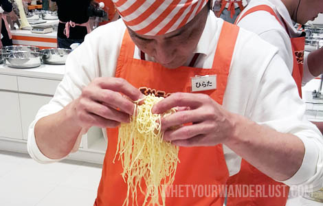Making noodles curly