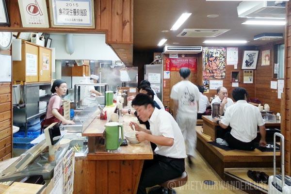 Inside Taste of Sapporo in Aomori Japan