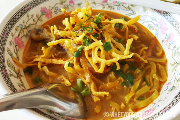 Khao soi noodle soup in Chiang Mai