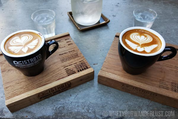 Lattes at Ristr8to in Chiang Mai